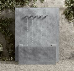 Weathered Zinc Wall Fountain - 5-Spout   Fountains   Restoration Hardware