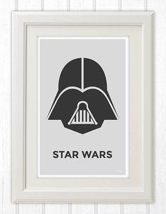 Darth Vader Star Wars Minimalist Poster 11x17 Instant von 11by17
