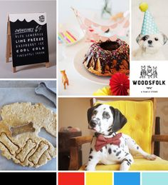 jasper would love a birthday party - A Pair of Pears: Moodboard: Pixel's First Birthday