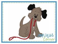 Puppy Needs a Walk Applique Design