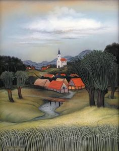 The Village in the Summer by Vladimir Tenkin