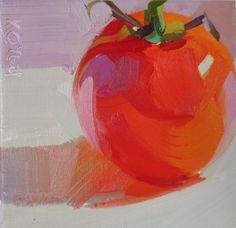 red, bright, warm, square, small, orange, food, tomato