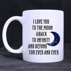 Best Lover gift Mug - Awesome I Love You To The Moon And Back To Infinity Beyond For Ever And Ever Custom Photo Mugs *** Startling review available here  : Cat mug