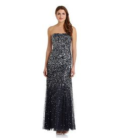 5bcaf77abf2 Adrianna Papell Beaded Strapless Gown what a pretty Bridesmaid dress for an evening  wedding