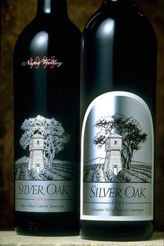 Silver Oak wine label, circa 1992