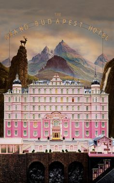 The Grand Budapest Hotel Poster Print by JosephWallArt on Etsy