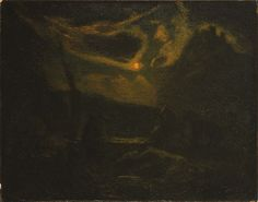 Albert Pinkham Ryder (1847-1917), Macbeth and the Witches, 1890s, Oil on canvas | Phillips Collection