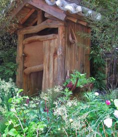 Cute outhouse......but, uhhhh, no thanks!