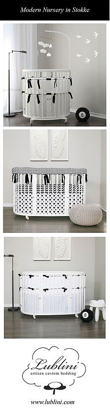 Stokke Sleepi or Stokke Mini, in a monochromatic black & white, for a minimalist look with a Nordic chic. Gender neutral, ubber cool.