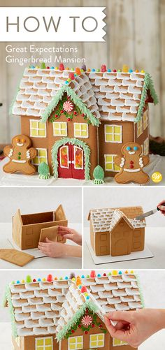 When your Gingerbread expectations are big ones, this estate-sized manor will fulfill your wishes. Four types of candy, three colors of icing, yellow fondant and gingerbread kid cookies make this gingerbread kit experience the biggest and the best! #wiltoncakes #gingerbreadhouse #gingerbreadhousetechniques #gingerbreadhouseparty #gingerbreaddesign #gingerbreadhouses #candy #gingerbreadhouseideas #gingerbreadhousedecorating