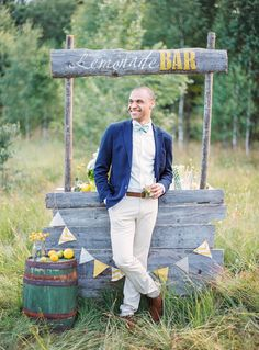 Lemonade bar | Yaroslav and Jenny Photography | see more on: http://burnettsboards.com/2014/12/bohemian-chic-wedding-inspiration/