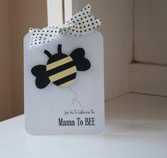 Bee Honeybee Baby Shower Invitations Invites Black and Yellow