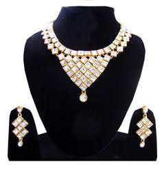 Artificial Handcraf choker Polki Kundan Party wear women Necklace jewellery #Handmade