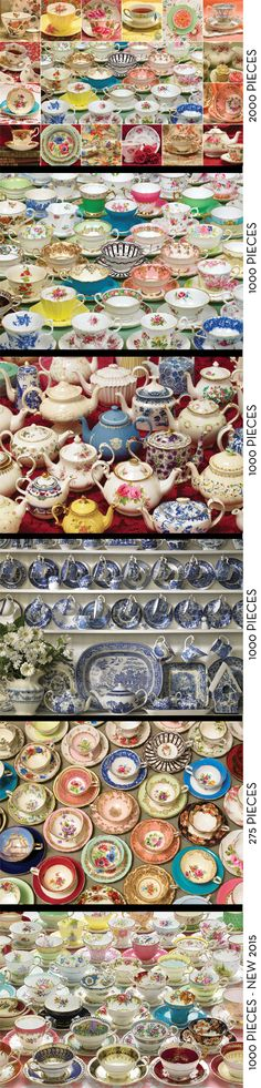 How about a little Mother's Day tea?  Cobble Hill jigsaw puzzles are great anytime of the year and this collection of tea time favourites have seen many a tea party.