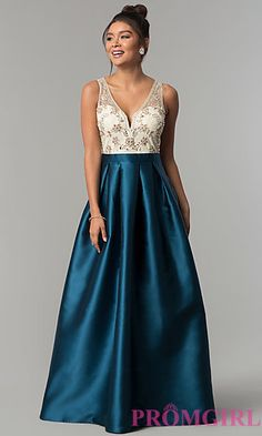 Pear Shaped Figure Prom, Evening Gowns - PromGirl