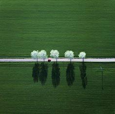 Photographies minimalistes prises dun avion Photo