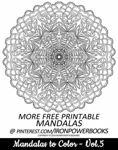 FREE Printable Mandala Coloring Pages for adults | Please use freely for personal non-commercial use | Visit http://www.amazon.com/Mandalas-Color-Mandala-Coloring-Adults/dp/149733716X for a complete paperback copy.