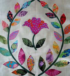 no pattern, just an idea---Kaffe Fasset fabrics for appliqué---need to start collecting more