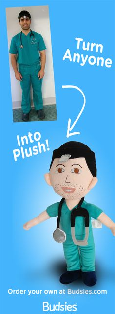 A great gift idea - turn your friend into a plush doll.  Super simple to do and less expensive than an American Girl doll ;)  Check out Budsies.com/selfies