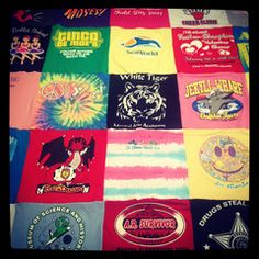 T-Shirt Blanket from Project Repat- I see a future for my old Threadless shirts.