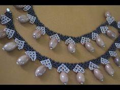 """Колье из бисера """"Миледи"""". Мастер класс / Necklaces of beads. Beading - YouTube"""