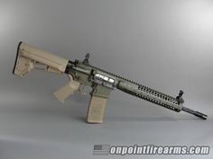 """The brand new LWRC M6IC-SPRs are finally shipping.  Featuring a 16"""" cold hammer forged, spiral fluted 1:7 twist barrel, fully ambidextrous controls: selector, mag and bolt release, and charging handle.  New monolithic IC upper receiver with scalloped deflector.  Olive Drab (OD) green Cerakote finish and FDE furniture.  Magpul MIAD grip and ACS stock.  LWRC Skirmish flip up front and rear sights.  This is the total package.  Includes modular rail system with a set of three (3) rails."""