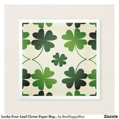 Lucky Four-Leaf Clover Paper Napkins - paper gifts presents gift idea customize
