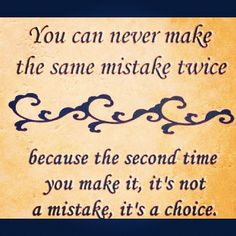 difference between mistake and choice