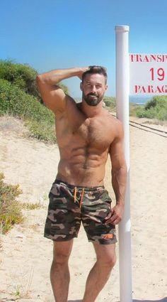 Handsome man #Handsome #HandsomeMen #Dude #Beard #Hairy #Tattoo #HairyChest #BareChested #Muscular #Fit