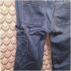 Gap Limited Edition Carpenter Jeans Only worn once, these jeans are in like new condition. These are slightly fitted in the thigh and widens starting at the knee to the hem. Cute carpenter loop and side pocket. GAP Jeans Flare & Wide Leg