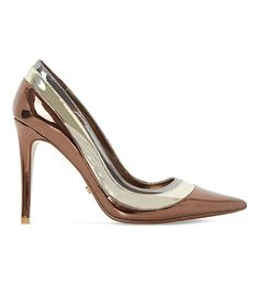 DUNE Triple-Layer Metallic Court Shoes. #dune #shoes #heels