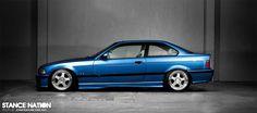 Blue e36 coupé on nice OZ Pegasus / Hamann PG1