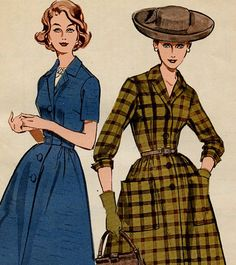 Vintage Butterick Sewing Pattern 9542 Sewing by MolecularModern,  Late 50's, early 60's $15.00