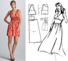 Diy idea how to make tutorial sew dress