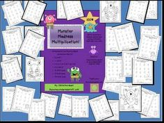 This fun Monster Themed Packet includes: Multiplication Fact Practice Sheets and Answer Keys for: •0, 0 and 1 •1, 1 and 2 •2, 3, 4, 5, 6, 7, 8, 9 ,10, 11,12 •2, 5, and 10 •X2 Color page •X5 Color page •X10 Color page   Use for whole group practice, or laminate answer keys and have students check their own work!