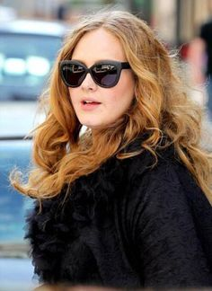 #LindaFarrow #sunglasses worn by #Adele and available now at #SunglassCurator