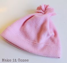 Make it Cozee: How to Make Fleece Hat in 10 Minutes  These are cute, and if made small enough, would be wonderful as a charity project for newborns.