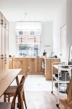 """Kitchen Trends - Natural Wood Cabinets 