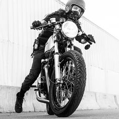 Bandana Biker Girl | Anchor & Bolts #motorbike #motorcycle #girl #blackandwhite #caferacer #custom