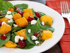 Spinach and Butternut Squash Salad