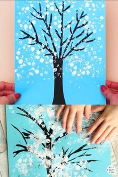 Winter Crafts For Kids, Crafts For Kids To Make, Easy Arts And Crafts, Crafty Kids, Tree Crafts, Bubble Wrap, Toddler Crafts, Kids Education, Preschool Crafts