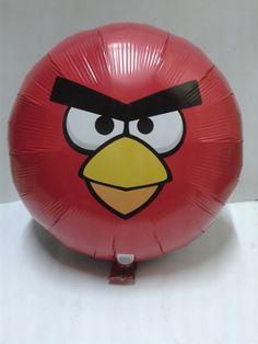 Decora tu fiesta con globos metalizados de Los Angry Bird.