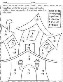 Halloween Multiplication Color By Number Worksheets