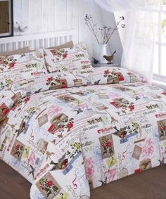 Tilly Duvet Cover Pillow Case Floral Bird Butterfly Bedding Set All Sizes Duvet Cover Sale, Best Duvet Covers, Quilt Cover Sets, Blanket Cover, Pillow Covers, Linen Bedding, Bedding Sets, Bed Linens, White Bedding