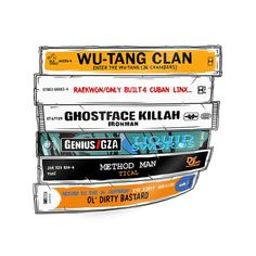 """Wu-Tang Sticker - """"The Wu Tapes"""" Hand-Illustrated Wu-Tang Cassette Tapes Sticker, 36 Chambers, Raekw Wu Tang Clan Album, Classic Hip Hop Albums, History Of Hip Hop, Wutang, Method Man, Hip Hop Art, Hand Illustration, Cool Wallpaper, Hiphop"""