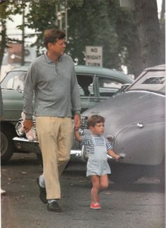 JFK taking JFK Jr. for a stroll