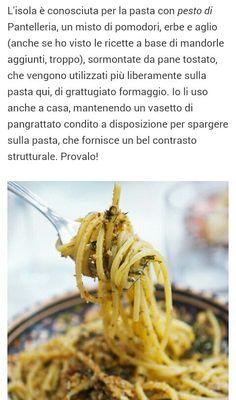 PRIMO AL PESTO DI PANTELLERIA