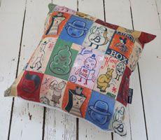 Vintage cartoon cushion.