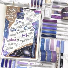 Top 10 Purple Bullet Journal Spreads This Week My inner creative Bullet Journal Spreads, Bullet Journal Notebook, Bullet Journal School, Bullet Journal Ideas Pages, Bullet Journal Layout, Bullet Journal Inspiration, Journal Design, Creative Journal, Bellet Journal
