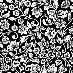 Desenho Arabesco - Preto e branco